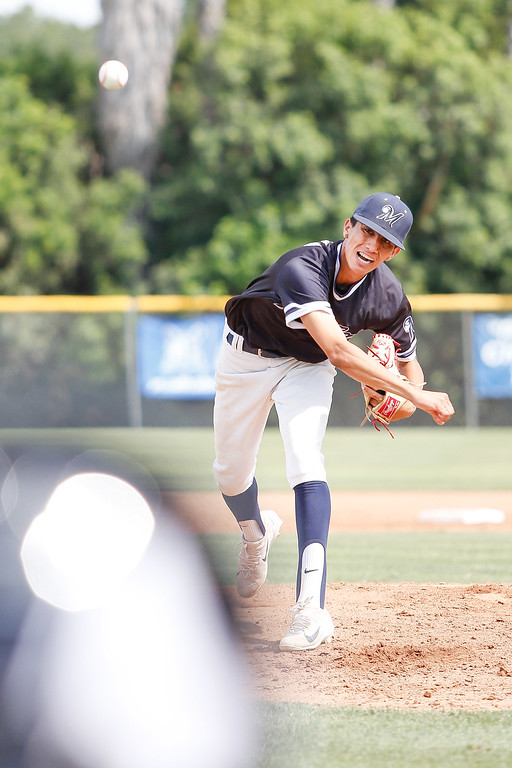 . Mayfair pitcher Eric Chavarria pitched a great game in Friday�s Suburban League rivalry matchup at La Mirada, but still came up short 3-2. . (Correspondent photo by Chris Burt/Sports: To purchase these pictures contact the photographer directly clburt@verizon.net )