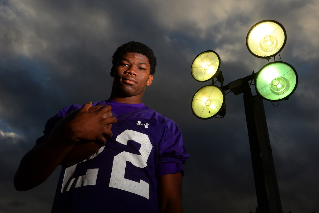 . Rashaad Penny has scored over 40 touchdowns for Norwalk High in Norwalk, CA on Tuesday, December 3, 2013.  (Photo by Scott Varley, Daily Breeze)