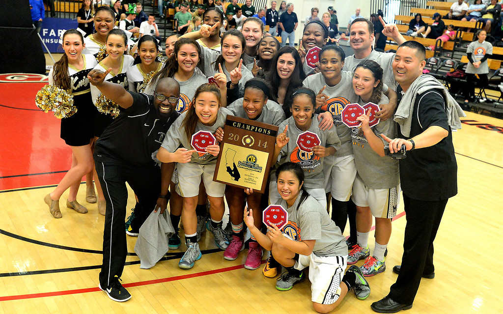 . Bishop Montgomery beat JSerra in the CIF Southern Section Division 4-AA girls basketball final at Azusa Pacific University in Azusa, CA. on Saturday March 8, 2014. (Photo by Sean Hiller/ Daily Breeze).