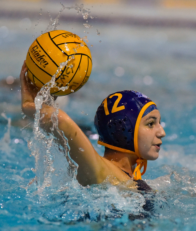 . Millikan�s Jade Vasquez scores a late goal in Long Beach, CA on Tuesday, February 14, 2017. Millikan beat Pacifica of Oxnard 14-7 in the opening round of the CIF Southern Section Division 5 girl\'s water polo playoffs. (Photo by Scott Varley, Press-Telegram/SCNG)