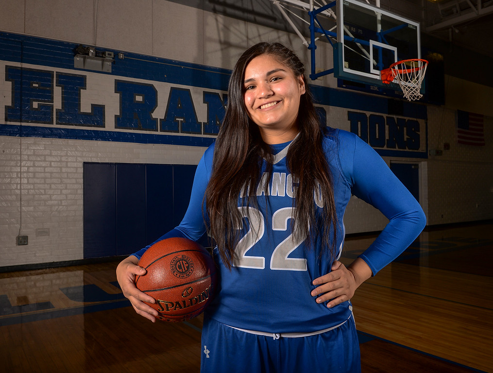 . Amy Navarro from El Rancho High School was selected as the Whittier Daily News All Area Girls Basketball Player of the Year on Monday April 10, 2017. (Photo by Keith Durflinger/Whittier Daily News/SCNG)