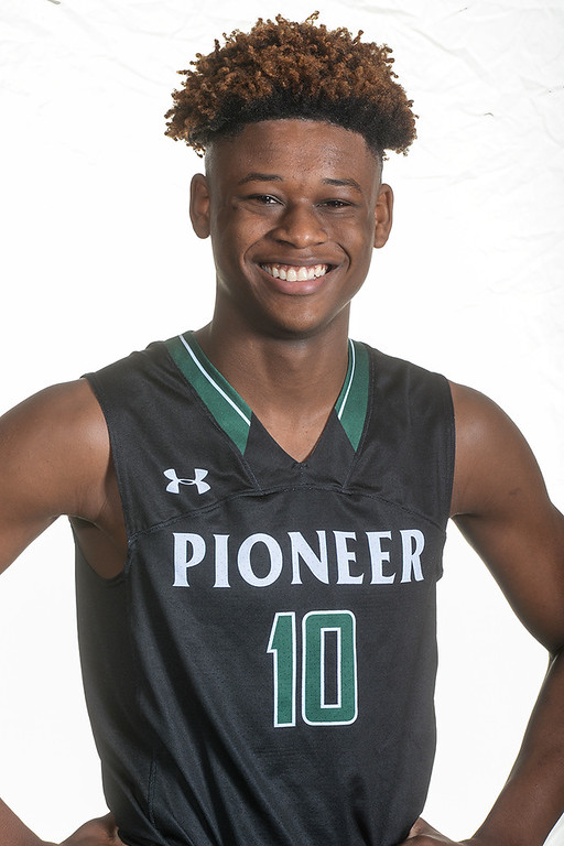 . Khieem Williams from Pioneer High School was selected to the Whittier Daily News All Area Boys Basketball Team on Thursday April 6, 2017. (Photo by Keith Durflinger/Whittier Daily News/SCNG)