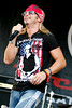 Bret Michaels : Bret Michaels at LA Live on October 30, 2011 for the Rock N Roll Marathon benefiting the ASPCA