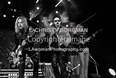 Richie Faulkner, Rob Halford and Glenn Tipton