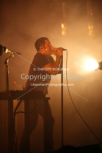 NIN Trent Reznor, May 20, 2009 Verizon Wireless Amphitheater Irvine, CA.  NINJA tour
