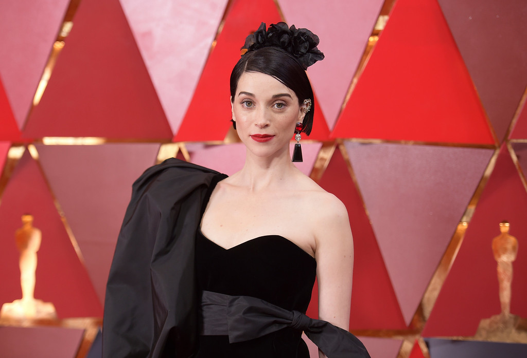. St. Vincent arrives at the Oscars on Sunday, March 4, 2018, at the Dolby Theatre in Los Angeles. (Photo by Richard Shotwell/Invision/AP)