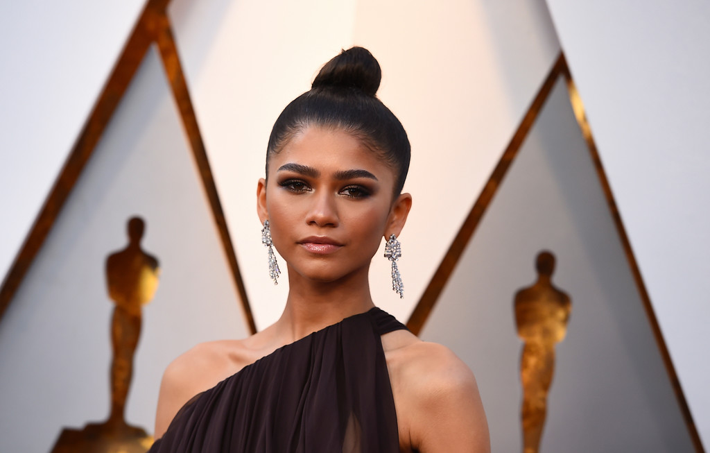 . Zendaya arrives at the Oscars on Sunday, March 4, 2018, at the Dolby Theatre in Los Angeles. (Photo by Jordan Strauss/Invision/AP)