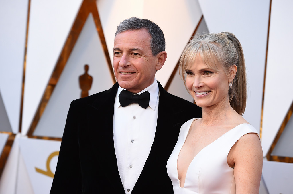 . Bob Iger, left, and Willow Bay arrive at the Oscars on Sunday, March 4, 2018, at the Dolby Theatre in Los Angeles. (Photo by Jordan Strauss/Invision/AP)