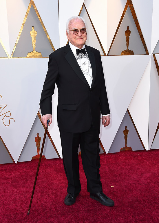 . James Ivory arrives at the Oscars on Sunday, March 4, 2018, at the Dolby Theatre in Los Angeles. (Photo by Jordan Strauss/Invision/AP)