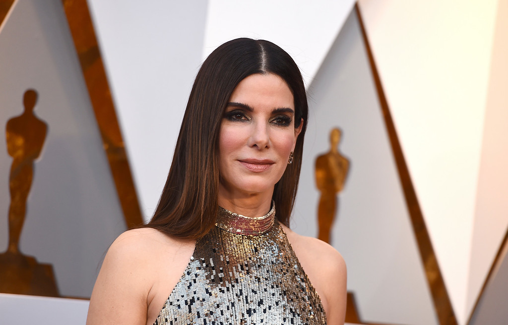 . Sandra Bullock arrives at the Oscars on Sunday, March 4, 2018, at the Dolby Theatre in Los Angeles. (Photo by Jordan Strauss/Invision/AP)