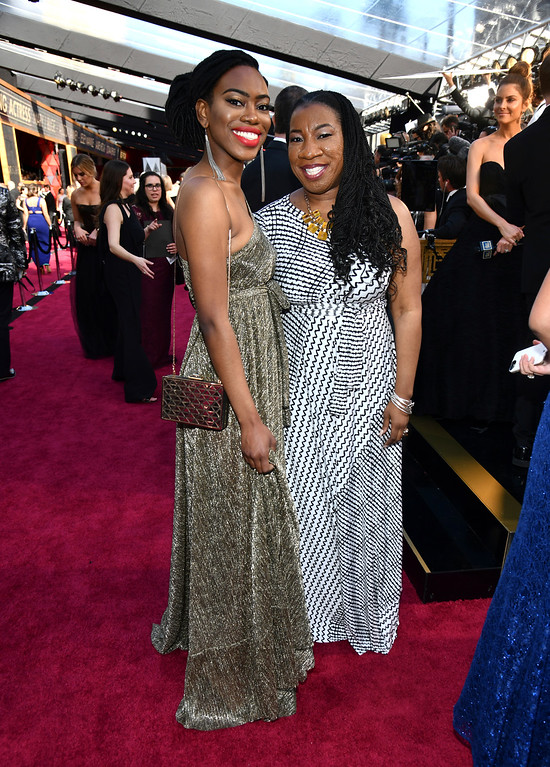 . Kaia Burke, left, and Tarana Burke arrive at the Oscars on Sunday, March 4, 2018, at the Dolby Theatre in Los Angeles. (Photo by Charles Sykes/Invision/AP)