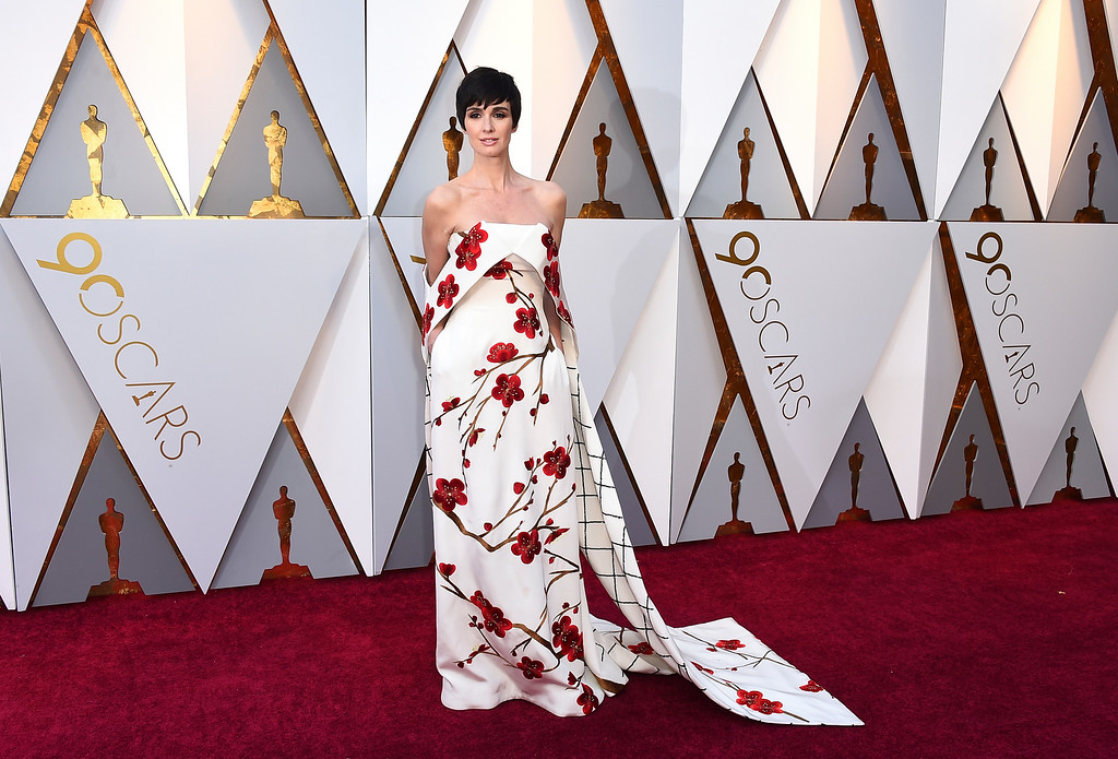 . Paz Vega arrives at the Oscars on Sunday, March 4, 2018, at the Dolby Theatre in Los Angeles. (Photo by Jordan Strauss/Invision/AP)