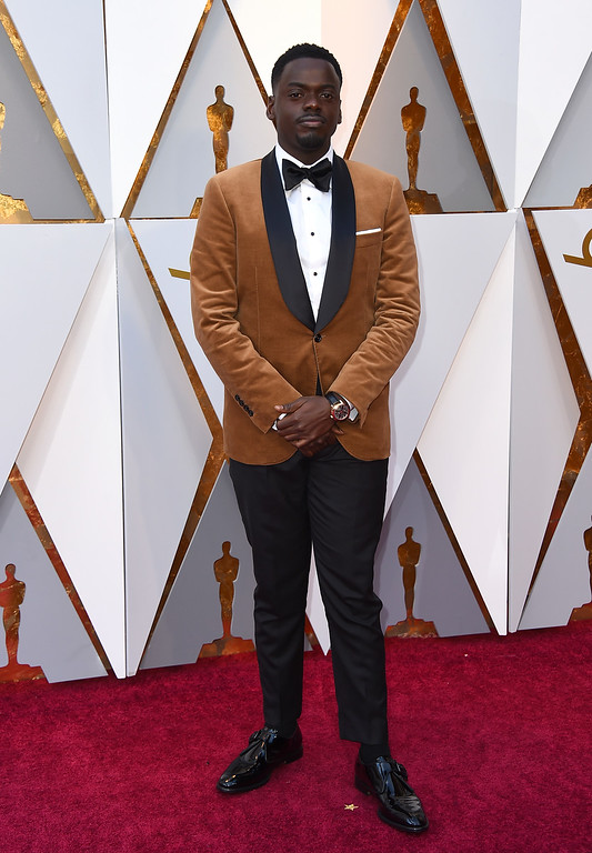 . Daniel Kaluuya arrives at the Oscars on Sunday, March 4, 2018, at the Dolby Theatre in Los Angeles. (Photo by Jordan Strauss/Invision/AP)