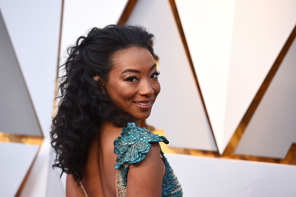 . Betty Gabriel arrives at the Oscars on Sunday, March 4, 2018, at the Dolby Theatre in Los Angeles. (Photo by Jordan Strauss/Invision/AP)