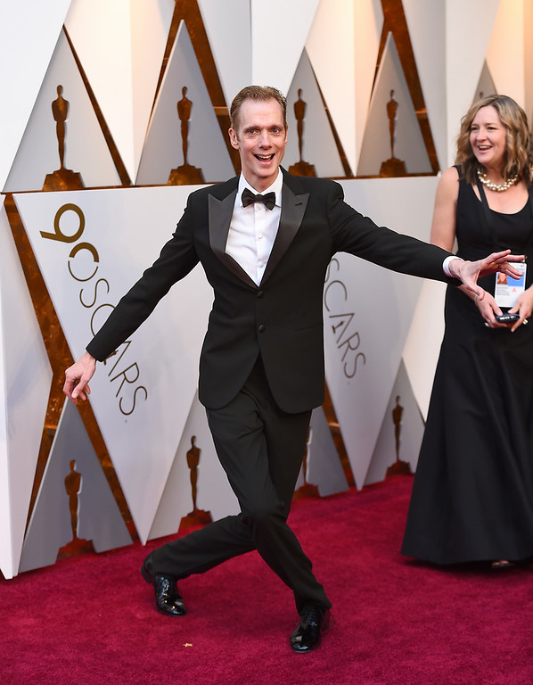 . Doug Jones arrives at the Oscars on Sunday, March 4, 2018, at the Dolby Theatre in Los Angeles. (Photo by Jordan Strauss/Invision/AP)