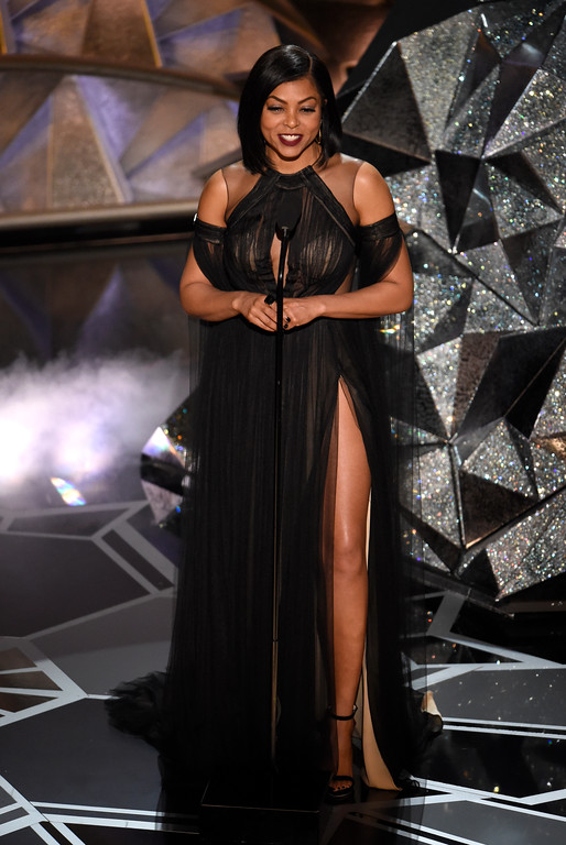 . Taraji P. Henson introduces a performance by Mary. J. Blige at the Oscars on Sunday, March 4, 2018, at the Dolby Theatre in Los Angeles. (Photo by Chris Pizzello/Invision/AP)