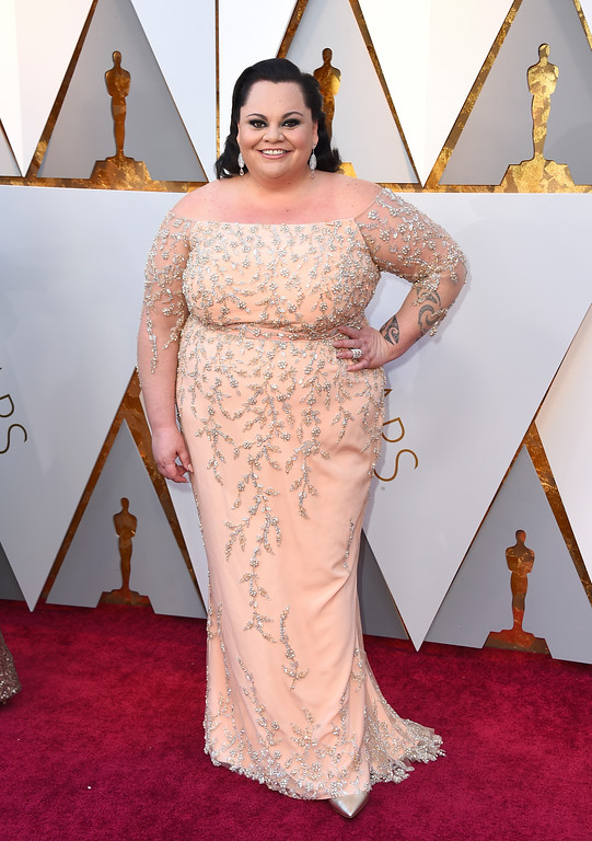 . Keala Settle arrives at the Oscars on Sunday, March 4, 2018, at the Dolby Theatre in Los Angeles. (Photo by Jordan Strauss/Invision/AP)