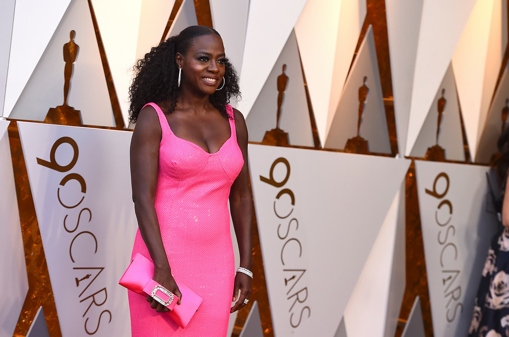 . Viola Davis arrives at the Oscars on Sunday, March 4, 2018, at the Dolby Theatre in Los Angeles. (Photo by Jordan Strauss/Invision/AP)