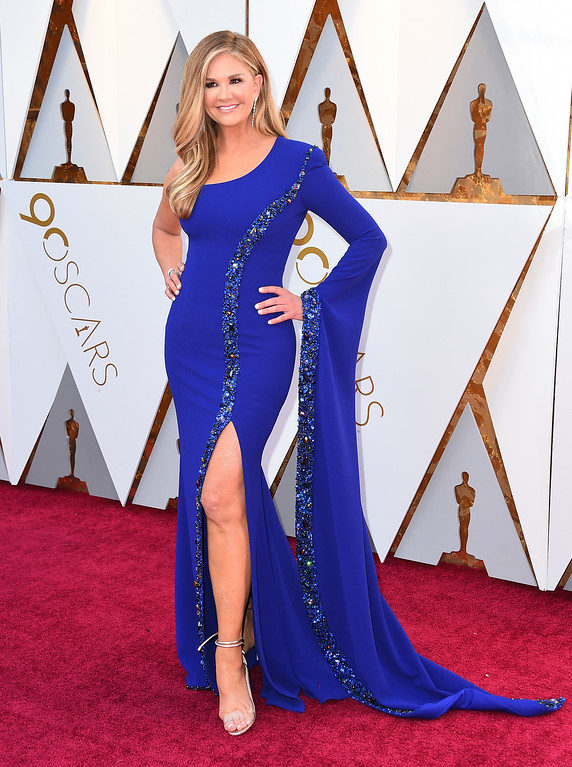 . Nancy O\'Dell arrives at the Oscars on Sunday, March 4, 2018, at the Dolby Theatre in Los Angeles. (Photo by Jordan Strauss/Invision/AP)
