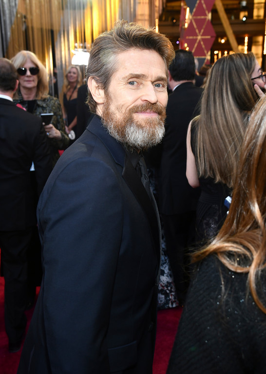 . Willem Dafoe arrives at the Oscars on Sunday, March 4, 2018, at the Dolby Theatre in Los Angeles. (Photo by Charles Sykes/Invision/AP)