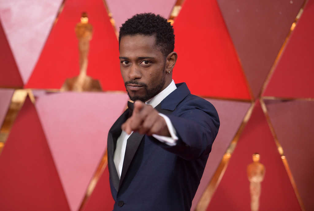 . Lakeith Stanfield arrives at the Oscars on Sunday, March 4, 2018, at the Dolby Theatre in Los Angeles. (Photo by Richard Shotwell/Invision/AP)