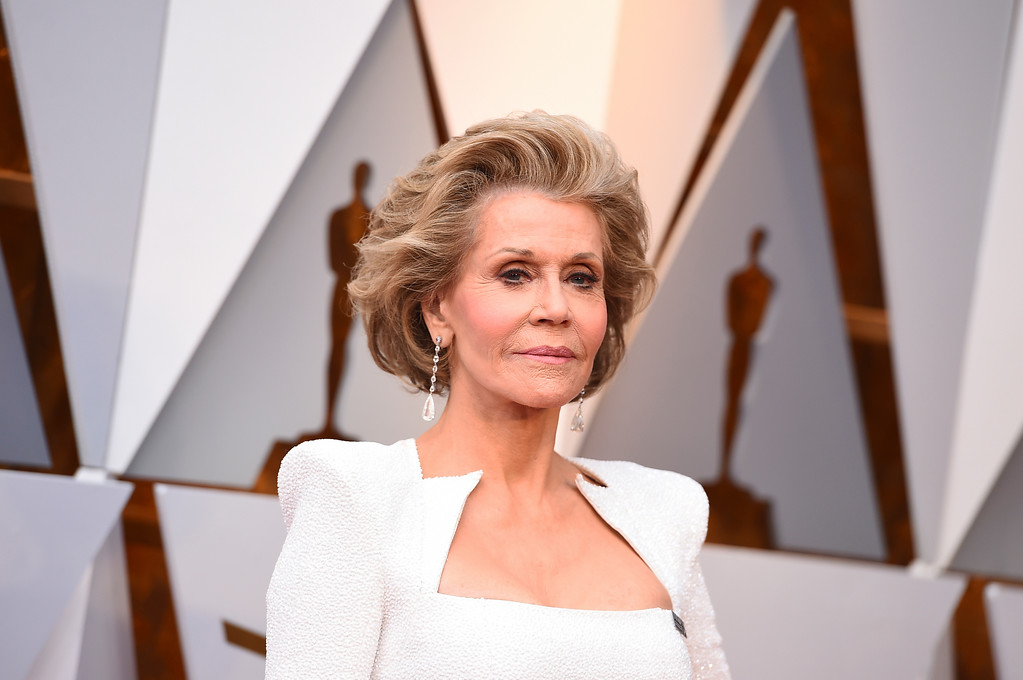. Jane Fonda arrives at the Oscars on Sunday, March 4, 2018, at the Dolby Theatre in Los Angeles. (Photo by Jordan Strauss/Invision/AP)