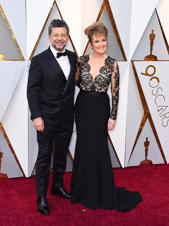 . Andy Serkis, left, and Lorraine Ashbourne arrive at the Oscars on Sunday, March 4, 2018, at the Dolby Theatre in Los Angeles. (Photo by Jordan Strauss/Invision/AP)