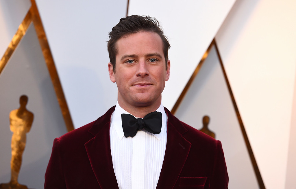 . Armie Hammer arrives at the Oscars on Sunday, March 4, 2018, at the Dolby Theatre in Los Angeles. (Photo by Jordan Strauss/Invision/AP)