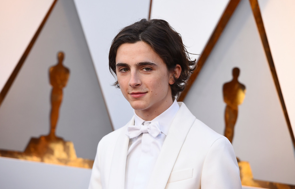. Timothee Chalamet arrives at the Oscars on Sunday, March 4, 2018, at the Dolby Theatre in Los Angeles. (Photo by Jordan Strauss/Invision/AP)