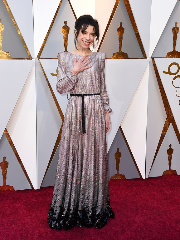 . Sally Hawkins arrives at the Oscars on Sunday, March 4, 2018, at the Dolby Theatre in Los Angeles. (Photo by Jordan Strauss/Invision/AP)