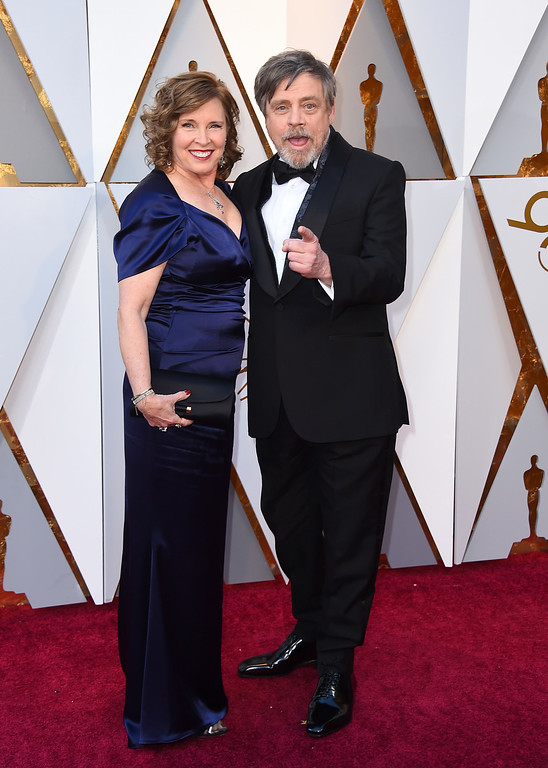 . Marilou York, left, and Mark Hamill arrive at the Oscars on Sunday, March 4, 2018, at the Dolby Theatre in Los Angeles. (Photo by Jordan Strauss/Invision/AP)
