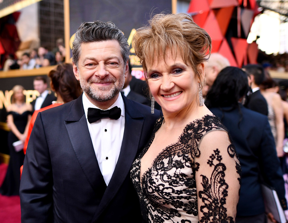 . Andy Serkis, left, and Lorraine Ashbourne arrive at the Oscars on Sunday, March 4, 2018, at the Dolby Theatre in Los Angeles. (Photo by Charles Sykes/Invision/AP)