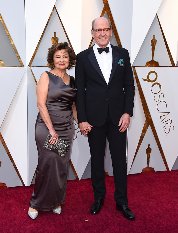 . Sharon R. Friedrick, left, and Richard Jenkins arrive at the Oscars on Sunday, March 4, 2018, at the Dolby Theatre in Los Angeles. (Photo by Jordan Strauss/Invision/AP)