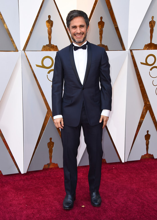. Gael Garcia Bernal arrives at the Oscars on Sunday, March 4, 2018, at the Dolby Theatre in Los Angeles. (Photo by Jordan Strauss/Invision/AP)