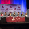 Sam Buckner for Shaw Media.<br /> D428 Board of education candidates sit on stage at the Egyptian Theatre in DeKalb for candidates night on Thursday, March 9, 2017.
