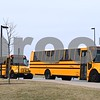 On Sunday, March 12, DeKalb High School Band Director waves a final goodbye, as he is the last person to board the school buses headed to O'Hare International Airport. One hundred and two members of the DHS Marching Barbs and 11 chaperones filled three school buses; their luggage and their instruments each had their own bus. Once in Chicago, the group will board a plane for an eight-day trip to Ireland, where they will perform in the St. Patrick's Festival Parade in Dublin on Friday, March 17.