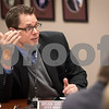 Sam Buckner for Shaw Media.<br /> City Manager Brian Gregory addresses water retention  issues regarding a future Meijer location during a planning meeting on Monday, March 13, 2017 in Sycamore.