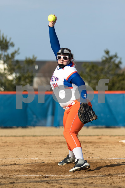 Sam Buckner for Shaw Media.<br /> Kayti Beauchamp pitches to Rock Falls on Monday February 20, 2017 during a home game.