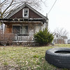 Eric Bonzar—The Morning Journal <br /> A residential property located at 2249 Beech Ave., Lorain, remains a target home for razing, by the Lorain County Land County Reutilization Corp.