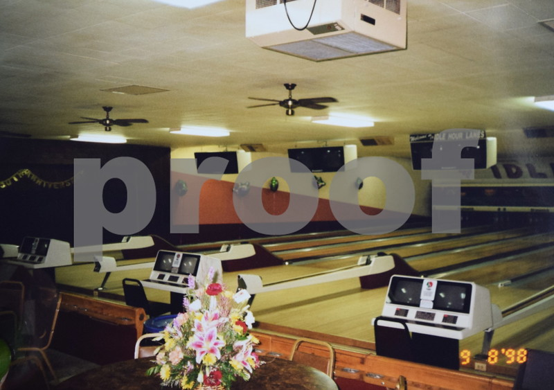 """Bonnie and Ron Miller owned and operated Idle Hour Lanes in Sandwich for 41 years before selling last month. The bowling alley will now be known as """"Pinheadz at Idle Hour Lanes."""" This picture was taken during the bowling alley's 50th anniversary in 1998."""