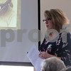 "Jessi Haish LaRue, a descendant of ""Barbed Wire Baron"" Jacob Haish, gave a presentation Friday about Haish's wife, Sophia, as part of the Ellwood House Museum's Local Lore lecture series."