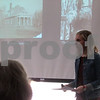 """Tricia Runzel, curator of education and interpretation at Ellwood House Museum, gave a presentation Friday about Harriet Ellwood, the wife of """"Barbed Wire Baron"""" Isaac Ellwood, as part of the museum's annual Local Lore lecture series."""