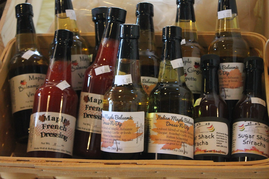 . Kristi Garabrandt - The News-Herald <br> In addition to maple stirs items such as dressings , maple cotton candy and maple dog treats are available for purchase.