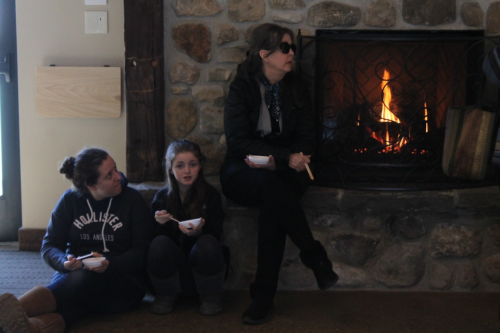 . Kristi Garabrandt - The News-Herald <br> Heather Penrod of Chardon attended maple stirs with her mother, Carol Penrod, and daughter MyKaela Penrod-Smith, 12. The family attends the stirs every year.