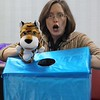 Children's librarian Samantha Nicholson gives clues as to what animals are in the box and kids guess the correct animal  during Eastlakes's Public :Library Special Needs Story Time.<br /> Kristi Garabrandt - The News-Herald