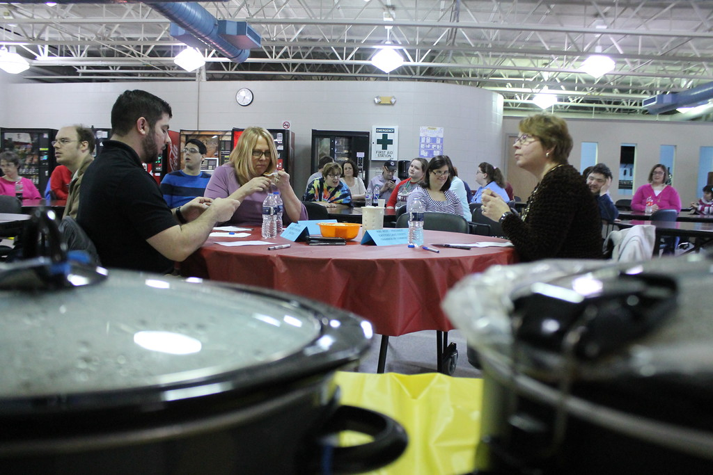 . Jackie Sheridan Vocational Guidance Center (VCG) and Broadening Abilities director, Matt Maier, operations director for Laketran and Ame West, president of eastern Lake County Chamber of Commerce were the judges for the 11th annual Willoughby Branch Chili Cook Off. Kristi Garabrandt - The News-Herald
