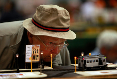 The Toy & Model Train Expo brings out the inner child during its weekend run at the Santa Clara Convention Center, Saturday morning, March 1, 2014, in Santa Clara, Calif. (Karl Mondon/Bay Area News Group)