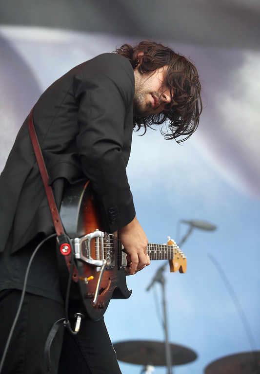. Spoon\'s Alex Fischel performs on the Land\'s End stage during the last day of the Outside Lands music festival at Golden Gate Park in San Francisco, Calif., on Sunday, Aug. 10, 2014. (Jane Tyska/Bay Area News Group)