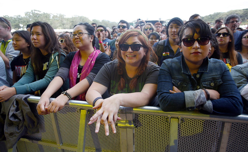 . Fans listen to Jenny Lewis on the Sutro stage during day three of the Outside Lands music festival at Golden Gate Park in San Francisco, Calif., on Sunday, Aug. 10, 2014. (Jane Tyska/Bay Area News Group)