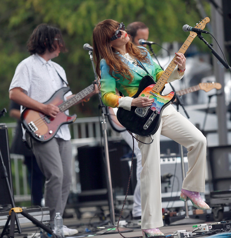 . Jenny Lewis performs on the Sutro stage during day three of the Outside Lands music festival at Golden Gate Park in San Francisco, Calif., on Sunday, Aug. 10, 2014. (Jane Tyska/Bay Area News Group)